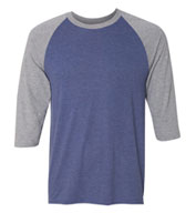 Anvil Adult Tri-Blend 3/4-Sleeve Raglan Tee