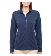 Custom Ladies Fairfield Herringbone Full-Zip Jacket