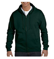 Custom Hanes Adult  EcoSmart® Full-Zip Hooded Sweatshirt