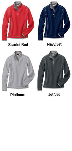 Ladies Janica Waffle Knit 1/4-Zip Pullover - All Colors