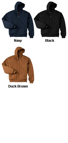 Duck Cloth Adult Hooded Work Jacket - All Colors