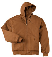 Custom Duck Cloth Hooded Adult Work Jacket in Tall Sizes