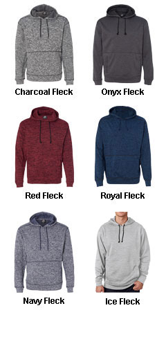 J America Adult Cosmic Poly Hooded Pullover Sweatshirt - All Colors
