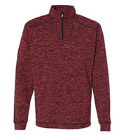 Custom J. America Mens Cosmic Fleece Quarter-Zip Pullover