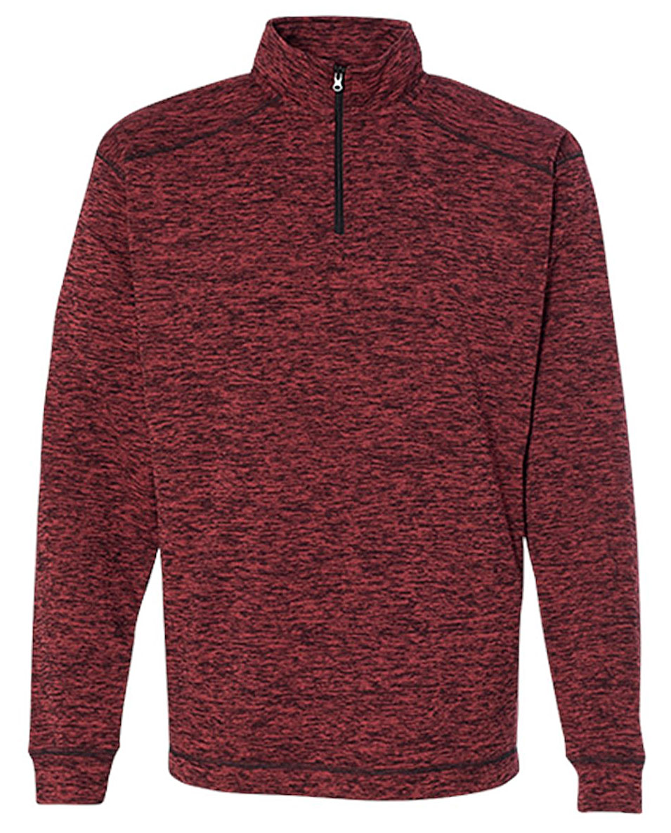 J. America Mens Cosmic Fleece Quarter-Zip Pullover