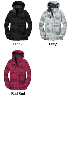 Ladies Brushstroke Print Insulated Jacket - All Colors