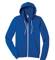 Custom Bella + Canvas Unisex Poly-Cotton Fleece Full-Zip Hoodie