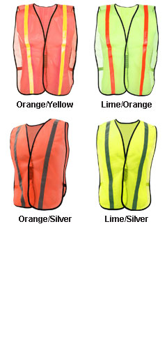 Adult Non-ANSI Safety Vest with Elastic - All Colors