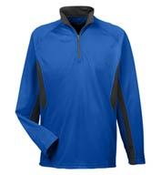 Custom Adult Cool and Dry Color Block Dimple Mesh 1/4 Zip Pullover