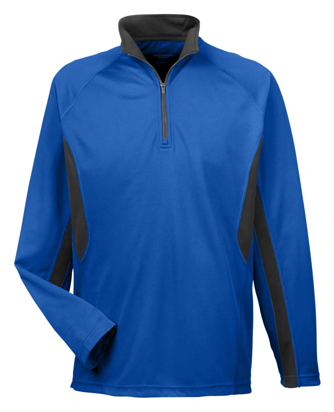 Adult Cool and  Dry Color Block Dimple Mesh 1/4 Zip Pullover