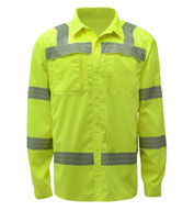 Custom GSS Safety Adult Class 3 Lightweight Button Down Shirt