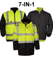 Custom Class 3 7-IN-1 All Seasons Mens Waterproof Jacket