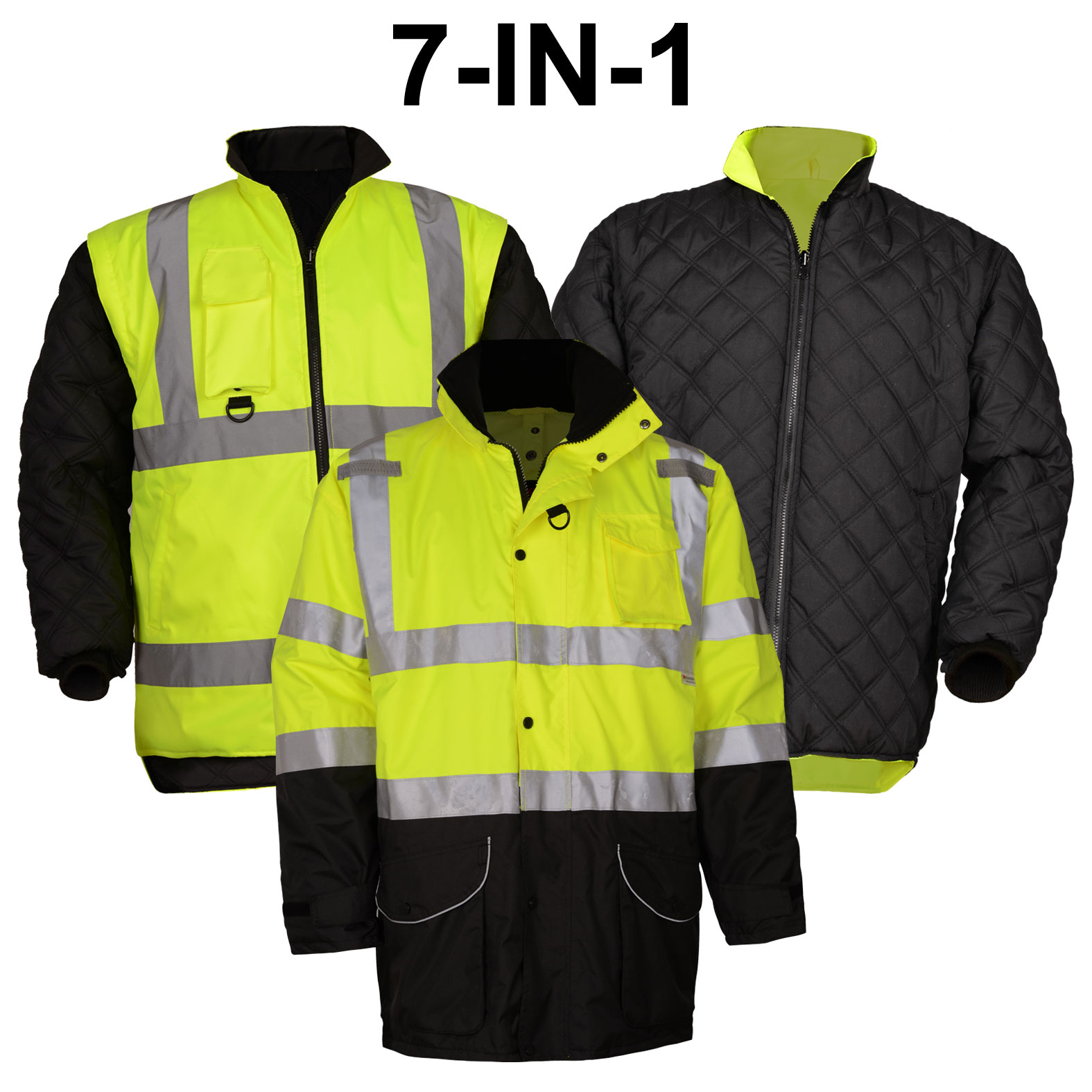 Class 3 7-IN-1 All Seasons Mens Waterproof Jacket