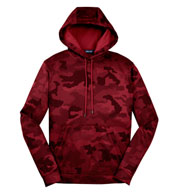 Custom CamoHex Fleece Hooded Adult Pullover