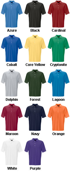 Greg Norman Mens Play Dry Performance Mesh Polo - All Colors