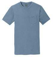 Custom Mens Essential Pigment-Dyed Pocket Tee