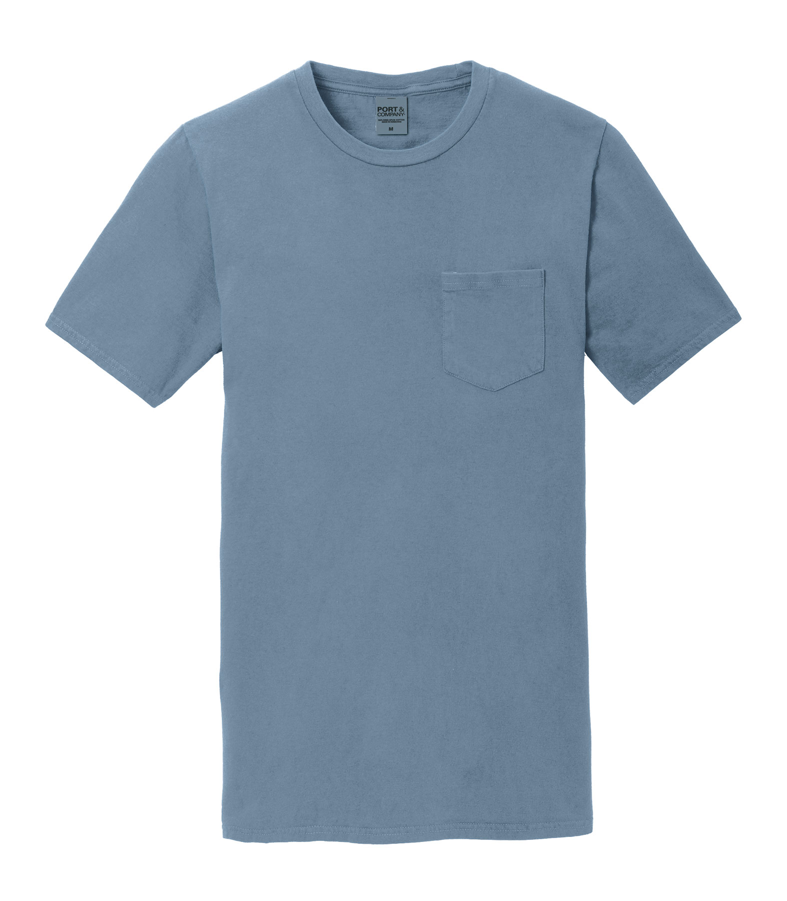 Mens Essential Pigment-Dyed Pocket Tee