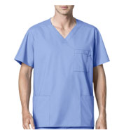 Custom WonderWink® WonderWORK Mens Multi-Pocket Scrub Top
