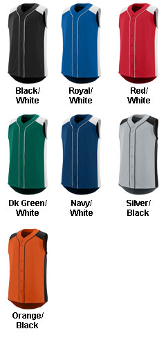 Adult Sleeveless Slugger Jersey - All Colors