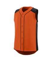 Youth Sleeveless Full Button Slugger Jersey