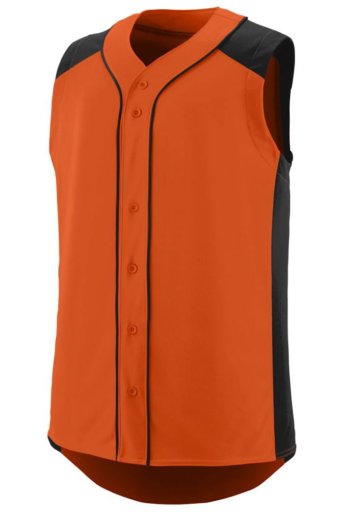 Augusta Youth Sleeveless Full Button Slugger Jersey