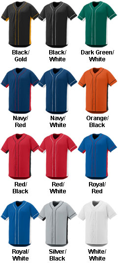 Adult Full Button Slugger Jersey - All Colors