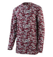 Digi Camo Wicking Long Sleeve T-Shirt