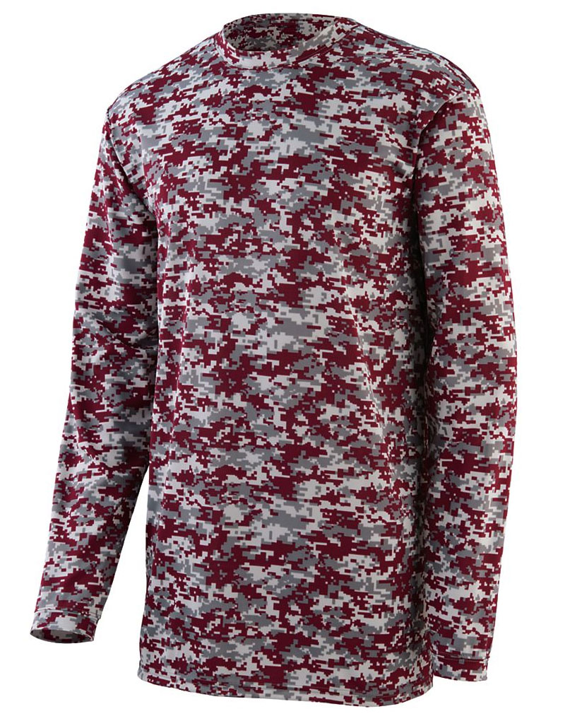 Augusta Adult Digi Camo Wicking Long Sleeve T-Shirt