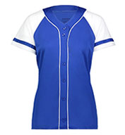Ladies Faux Full Button Winner Jersey