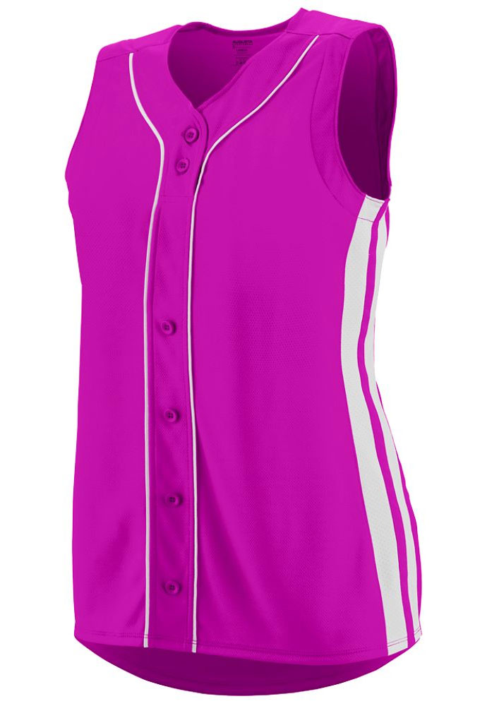 Girls Sleeveless Faux Full Button Winner Jersey