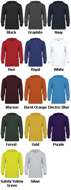 Youth Long Sleeve Hood Tee - All Colors