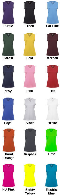 Youth B-Core Girls Sleeveless Tee - All Colors