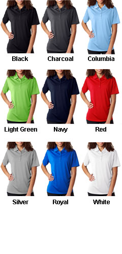 Ladies Cool & Dry 8 Star Elite Performance Interlock Polo - All Colors