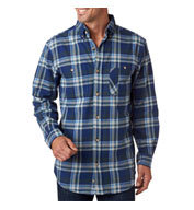 Custom Backpacker Mens Yarn-Dyed Flannel Shirt