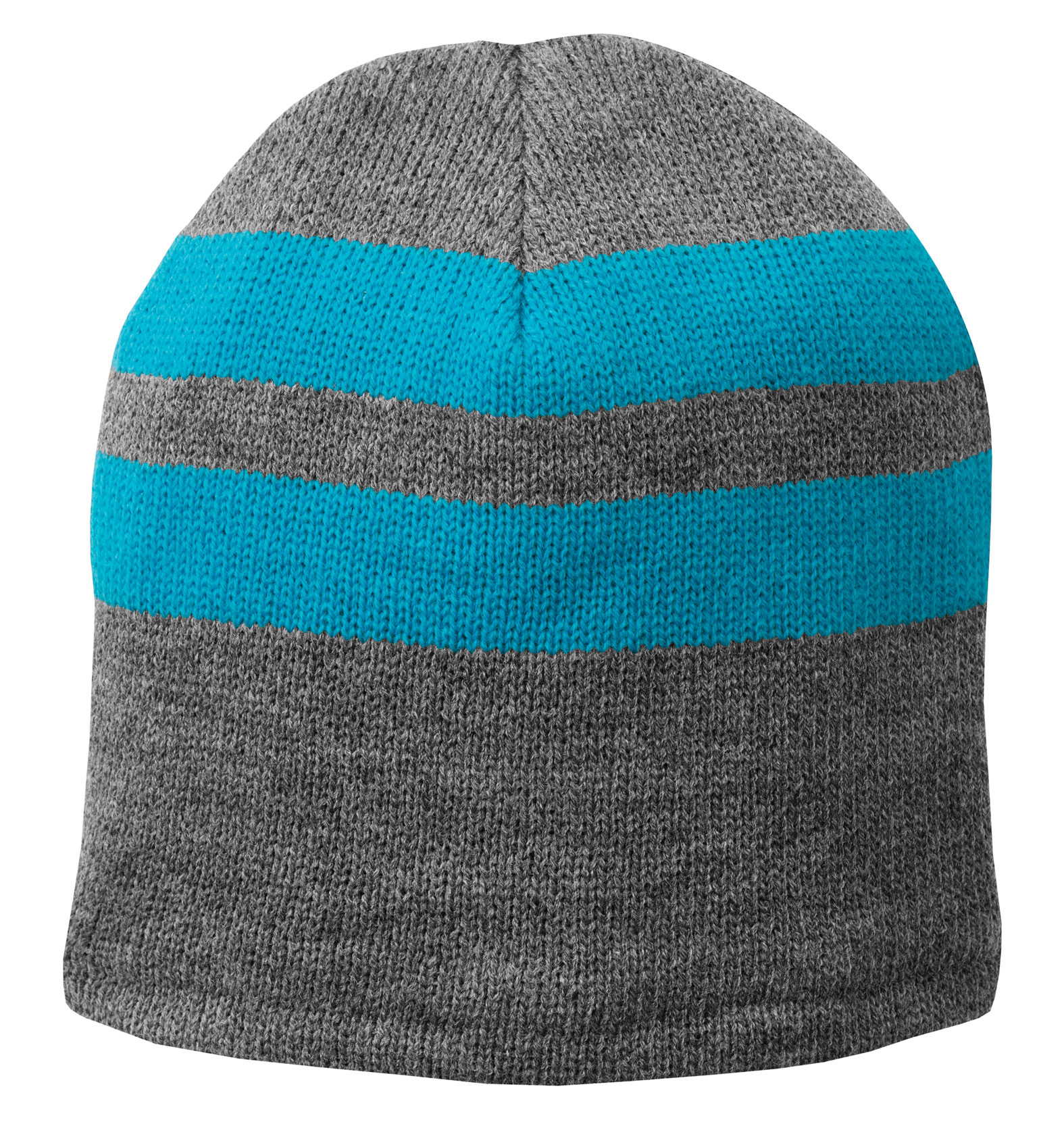 Fleece-Lined Striped Beanie Cap