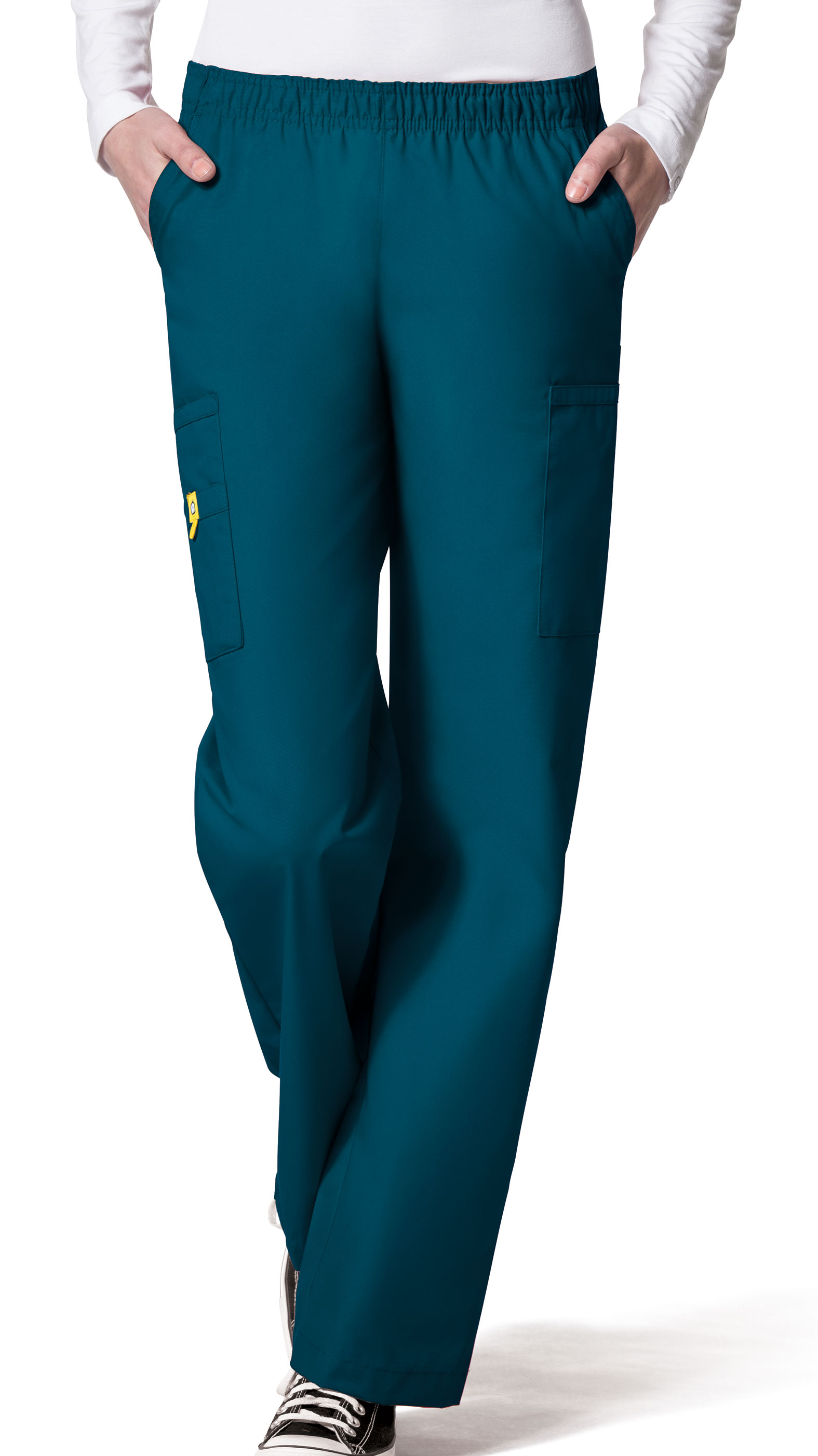 Ladies Quebec Full Elastic Cargo Pant by WonderWink®