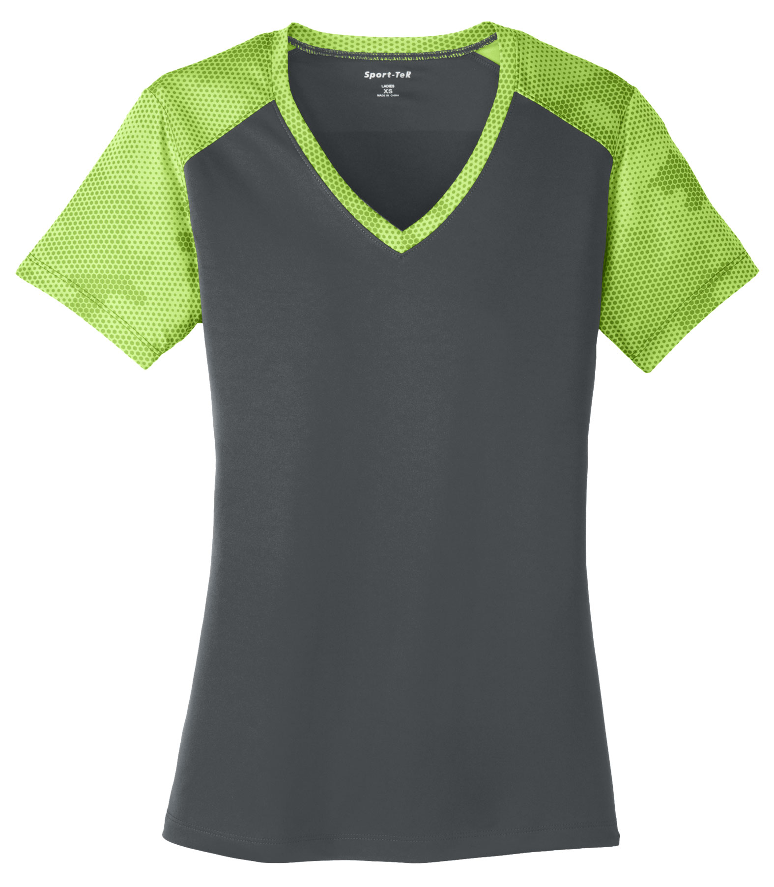 Ladies CamoHex Colorblock V-Neck Tee