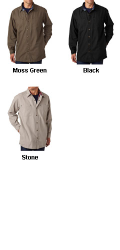 Backpacker Mens Canvas Shirt Jacket with Flannel Lining - All Colors