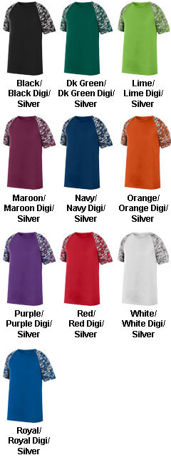 Youth Color Block Digi Camo Jersey - All Colors
