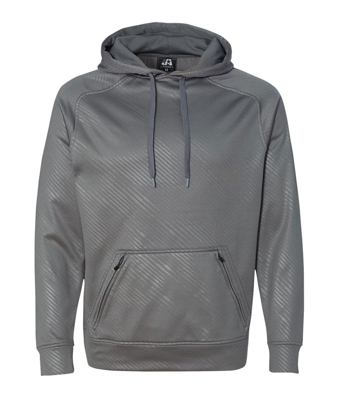 J. America Mens Volt Poly Hooded Pullover Sweatshirt