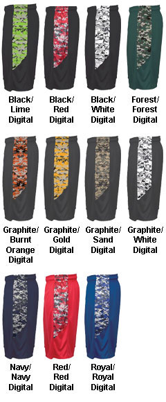Adult Digital Panel Short - All Colors