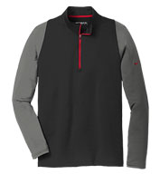 Custom Nike Golf Mens Dri-FIT Stretch 1/2-Zip Cover-Up