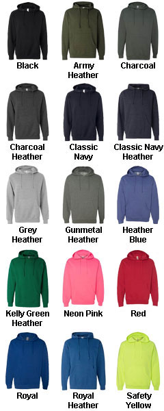 Adult Midweight Hooded Sweatshirt - All Colors