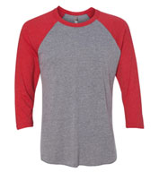 Next Level Unisex Tri-Blend 3/4-Sleeve Raglan