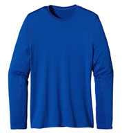 Custom Patagonia Mens Long Sleeve Wicking Capilene® Crew Neck T-shirt
