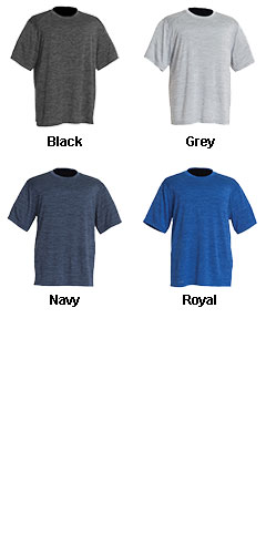 Mens Space Dye Performance Tee - All Colors