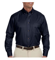 Custom Harriton Mens Tall Easy Blend™ Long-Sleeve Twill