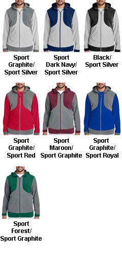 Mens Rally Colorblock Microfleece Jacket  - All Colors