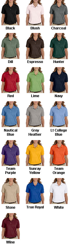 Harriton Ladies Easy Blend™ Polo - All Colors