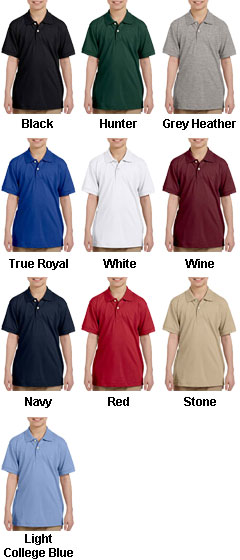 Harriton Youth Easy Blend™ Polo - All Colors